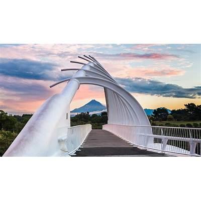 Te Rewa Bridge near New Plymouth Zealand