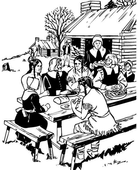 thanksgiving feast coloring pages disney coloring pages
