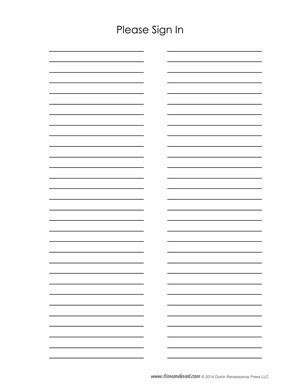 Blank Sign Up Sheet Pdf by Blank Sign In Sheet Templates Tim S Printables