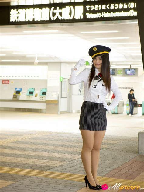 Nonami Takizawa Asian With Generous Boobs Is Sexy Air Hostess