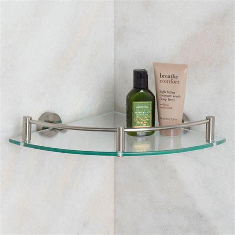 glass shower shelves bristow tempered glass corner shelf bathroom