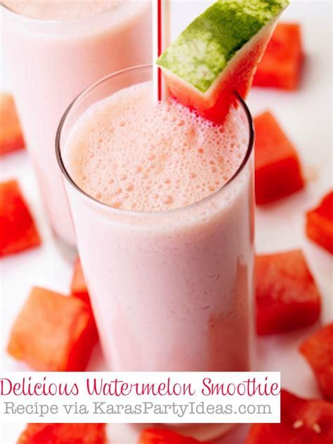 kara 39 s party ideas watermelon fruit summer girl 1st kara 39 s party ideas delicious easy watermelon smoothie