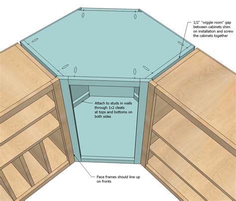 ana white wall kitchen corner cabinet diy projects