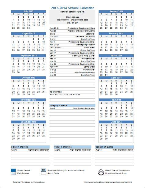 academic calendar template school calendar template 2016 2017 school year calendar