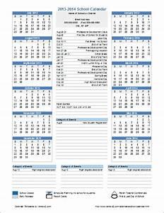 School Calendar Template - 2016-2017 School Year Calendar