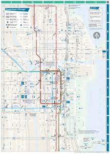 CTA Train Chicago Map Downtown