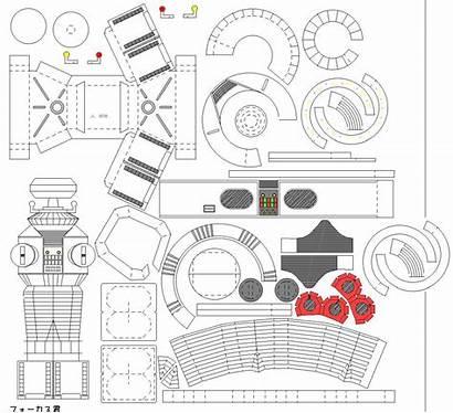 Paper Models Space Robot Lost Toys 3d