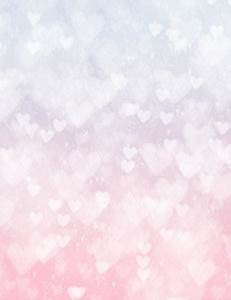 Silver Hearts Bokeh With Pink And White Background ...