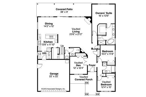 craftsman open floor plans craftsman house plans sutherlin 30 812 associated designs