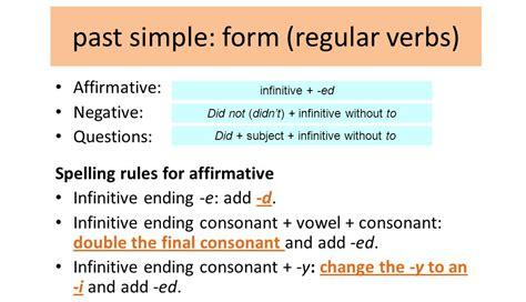 Franc's Corner 4th Grade Past Simple (regular Verbs