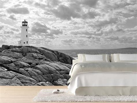 lighthouse at peggy s cove wall mural eazywallz