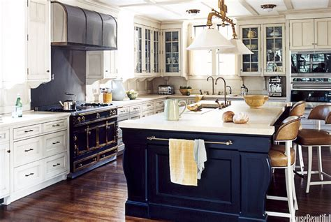 Open Kitchen Cabinet Ideas - navy blue kitchen islands classic or trendy