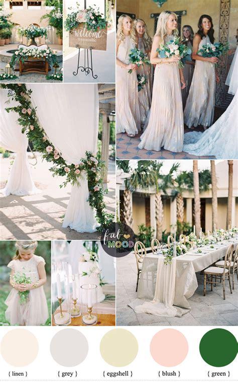 green  neutral wedding colour palette  blush accents