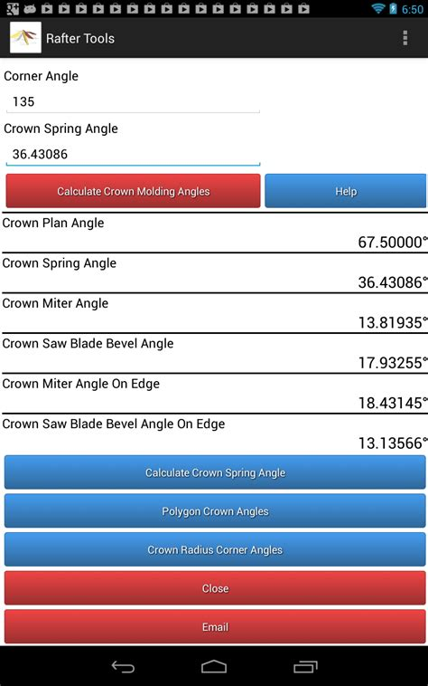 molding calculator roof framing geometry polygon crown molding miter angles and bevel angles