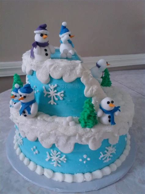 winter wonderland cake cake  tracey cakesdecor