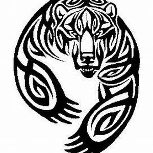 24 best Bear Head Tribal Tattoo Designs For Men images on ...
