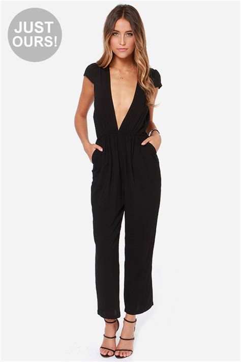 lulus jumpsuit black jumpsuit cropped jumpsuit 56 00