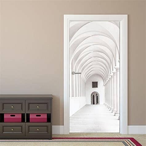papier peint pour porte couloir passage arcade 92 x