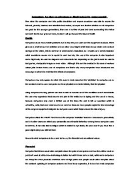 Advantage Of Computer Technology Essay by Computers Disadvantages Essay