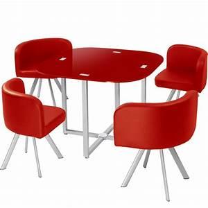 Table Et Chaise Scandinave : table scandinave et chaises vintage 90 rouge pas cher ~ Melissatoandfro.com Idées de Décoration