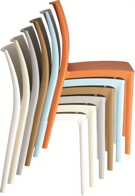 sedia di plastica sedie in plastica impilabili per esterni tonon