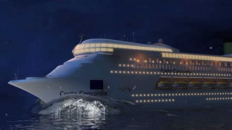cruise ship sinking 2016 costa concordia cruise ship disaster animation shows how