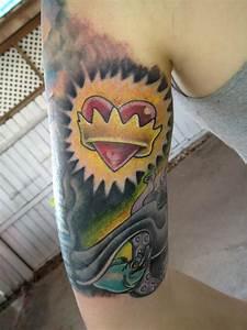 the little mermaid sleeve tattoo | Tattoos | Pinterest