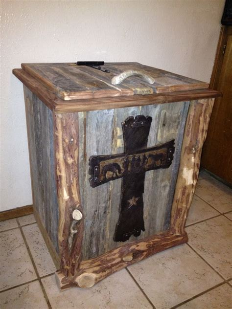 western barn wood trash  aztec home decor home