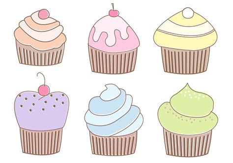 free muffins vector download free vector art stock
