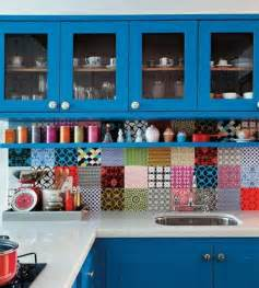 colorful kitchen backsplash custom built in hutch with inset shaker style drawers open shelving and beadboard back with a