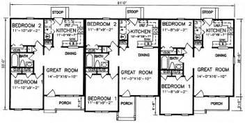 multi level house floor plans multi family plan 45364 at familyhomeplans com