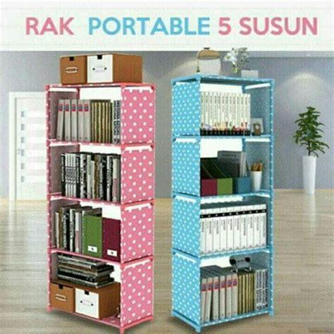 Rak Sepatu Portable 9 Susun free ongkir rak buku portable lemari serbaguna 5 susun