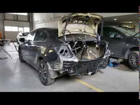 honda civic rear panel repaired youtube