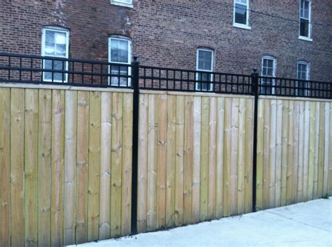 wrought iron and wood fence j franco steel porches wood and wrought iron fences