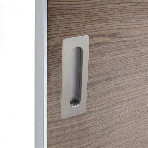poign 233 e porte coulissante rectangle zamak nickel 233 gris
