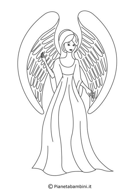 disegni  angeli da colorare pianetabambiniit