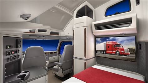 peterbilt unveils model  ultraloft integrated sleeper