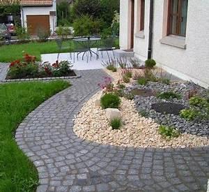 Gartengestaltung Mit Steinen : vorgartengestaltung mit kies 15 vorgarten ideen garten ideen ~ Watch28wear.com Haus und Dekorationen
