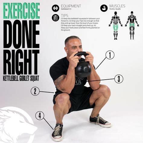 goblet squat kettlebell squats infographic challenge deadlift
