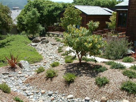 berms  dry creekbed designed  ann breemer designs