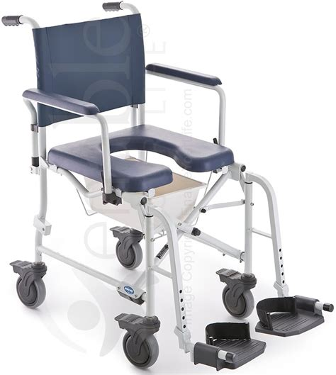 invacare 174 mariner rehab shower transport chair with commode