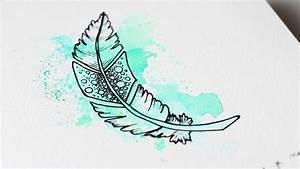 Dessin De Plume Facile : tipivoine diy dessins et inspiration ~ Melissatoandfro.com Idées de Décoration