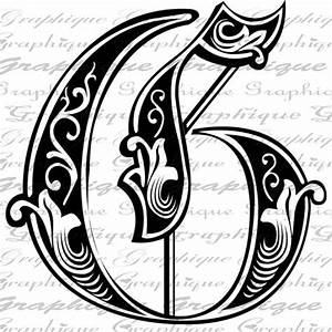 letter initial g monogram old engraving style type by With engraving letter templates