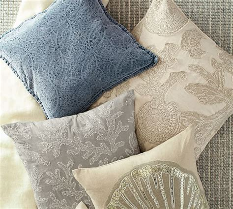 Beaded Jacquard Pillow Cover Pottery Barn New by Chenille Jacquard Pillow Cover Pottery Barn