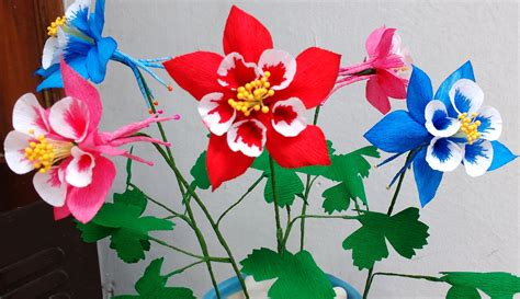 how to a flower how to make paper flowers columbine aquilegia flower