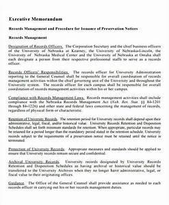 Examples Of Memorandum Executive Summary Memorandum