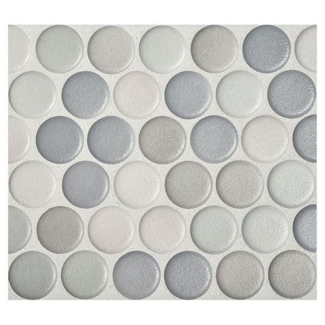 Backsplash Tile For Bathrooms by Penny Round Mosaic Graphite Blend Anti Slip Matte