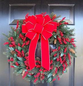 Large, Holiday, Bow, Christmas, Wreath, Bow, Christmas, Bows
