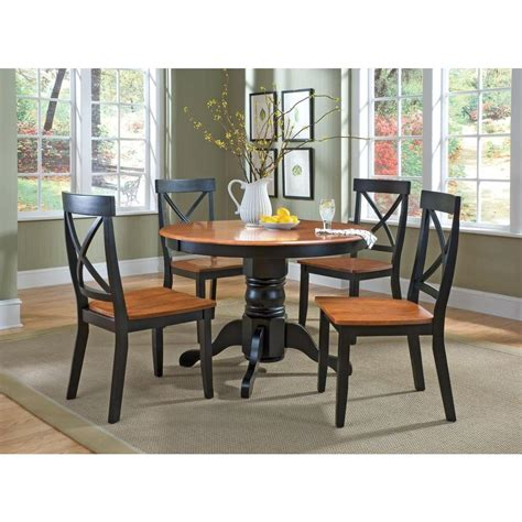 home styles  piece black  oak dining set