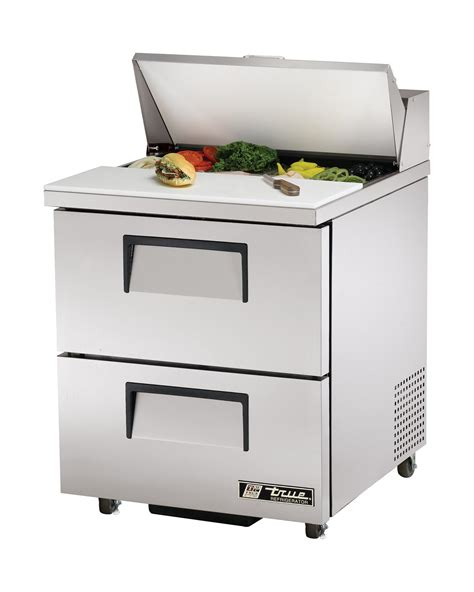 true sandwich prep table true tssu 27 8d 2 sandwich salad prep table 2 solid drawer